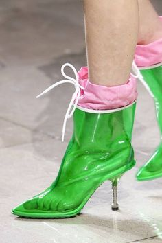 Boots from Miu Miu AW 2014. And they'll look even nicer on a real hot, humid day.