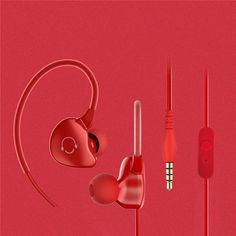 Quality In-ear Earphones Noise Cancelling With Microphone Anti-sweat Auriculares Bass Earphone Earbuds Sports Runing Earphone Sport Earbuds, Noise Cancelling, Headphones, Ipad, Audio, Sports, Ear Phones, Bass, Headset