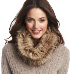 Reversible Faux Fur Jacquard Popover | Loft