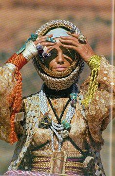 Veruschka wears designs by Giorgio di Sant' Angelo, 1960s