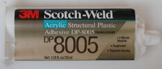 This short note briefly presents a relatively new product (around the year 2000) for bonding polypropylene and polyethylene, 3M's Scotch-Weld  Structural Plastic Adhesive DP-8005
