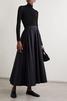 Black Ludek stretch-knit turtleneck top | The Row | NET-A-PORTER World Of Fashion, Fashion Online, Black Turtleneck, Top Designer Brands, White Tees, Fashion Advice, Black Tops, The Row, Knitwear
