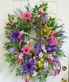 Purples, Pinks..most awesome designer and wreath maker ever!