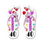 40th Party Girl Flip Flops http://www.cafepress.com/flipflopfrenzy/12586403 #40thbirthday #40yearsold #Happy40thbirthday #40thbirthdaygift #40thbirthdayidea #personalized40th #40thflipflops #Custom40th #40andfabulous