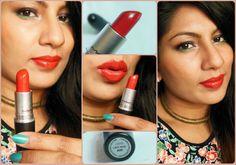 MAC Lustre Lady Bug Lipstick Review, Swatch, LOTD