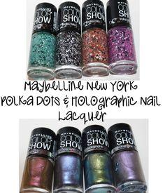 Maybelline New York Color Show Polka Dot and Holographic Polish #maybelline #nailpolish #beauty #makeup