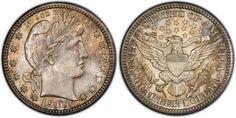 most valuable barber quarters us coins   Most Expensive Quarter: 1901-S Barber Quarter (above)