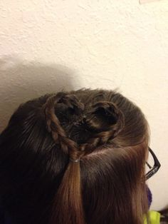 Heart hair for Valentines Day