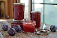 Plum Jam - Capture summer in a jar with this Plum Jam recipe. Spread it on toast, scones, pancakes or waffles. Makes a thoughtful housewarming or holiday gift as well.