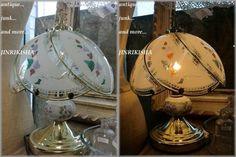 古道具 ガラスシェードランプタッチ式ライトアンティーク Antique lamp shade ¥2000yen 〆04月05日