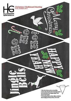 FREE Christmas Chalkboard Bunting | Flickr - Photo Sharing!
