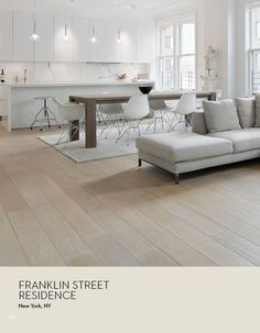 White Oak, wide plank floors