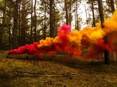 Make a smoke bomb that billows clouds of brightly colored smoke. This project is easy and safe enough to at home. Adult supervision is required.