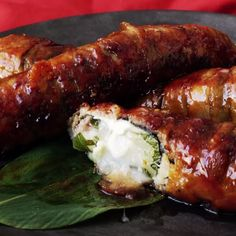 These cheesy pork belly rolls stuffed with mochi are like inside out pigs in blankets.