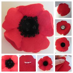 With Remembrance Day approaching, I sat down this morning and made myself this felt poppy brooch. Felt Flowers, Fabric Flowers, Felt Crafts, Diy Crafts, Remembrance Poppy, Poppy Brooches, Steampunk Crafts, Red Felt, Felt Patterns