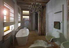 Luxusní koupelna v přírodním stylu | AŤÁK DESIGN Stylus, Bathtub, Bathroom, Design, Standing Bath, Washroom, Bathtubs, Style, Bath Tube