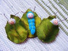 lagarta e folha