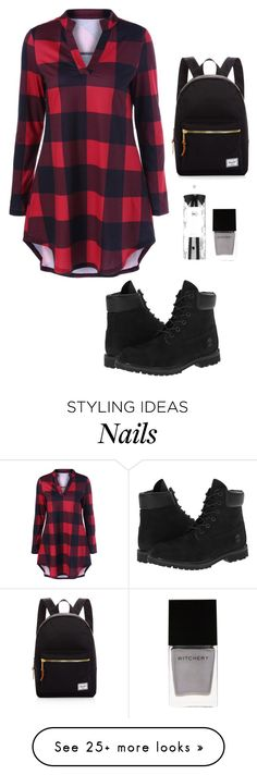 """Edgy"" by temima101 on Polyvore featuring Timberland, Herschel Supply Co., Witchery and R+Co"