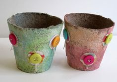Decorating Peat Pots