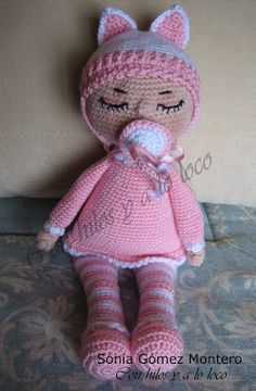 Bebe Sonia - Amigurumi Free Patterns and Amigurumi Tutorials Patron Crochet, Amigurumi Tutorial, Free Pattern, Mickey Mouse, Teddy Bear, Dolls, Knitting, Animals, Color Rosa