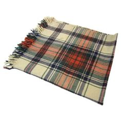 Check out this item at One Kings Lane! Cream Plaid Throw Blanket