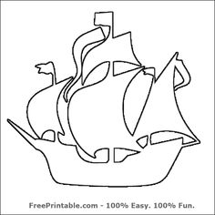 Customize Your Free Printable Pirate Ship Stencil