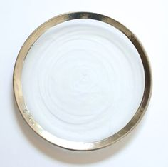 the ARK collection - Pewter Rim Dinner Plate - coming in fall 2016 & Heath Ceramics - Opaque White   Dinner Plate Salad Plate Bread ...