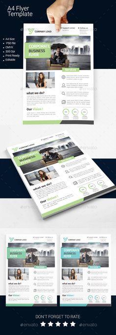 A4 Business Flyer Template #design Download: http://graphicriver.net/item/a4-business-flyer-template-06/11249704?ref=ksioks