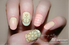 Nautical caviar manicure