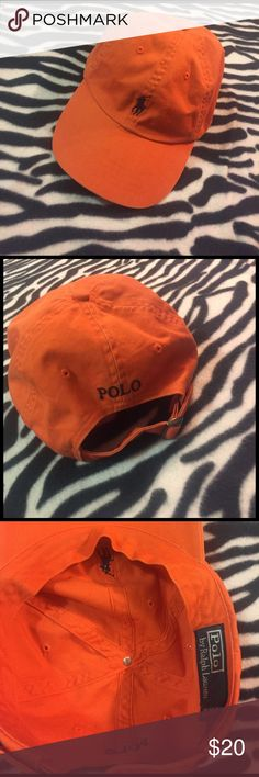 Orange polo hat by Ralph Lauren Orange and nice for the summer time. Good condition Polo by Ralph Lauren Accessories Hats