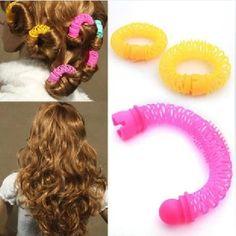8 pz ragazze bigodino bigodini elastico anello bendy bigodino a spirale  Curls diy strumento donne della ragazza accessori per capelli elastici 2016 nuovo  Hot
