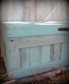 Large Turquoise Hope Chest/Coffee Table/End of the Bed Bench /Storage on Etsy, $325.00