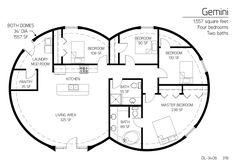 Floor Plan: DL-3406 | Monolithic Dome Institute
