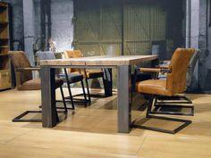 Eiken tafel Imola - ROBUUSTE TAFELS! Direct uit voorraad of geheel op maat >>