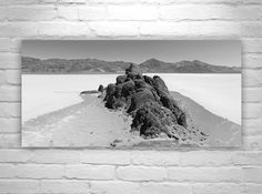Death Valley Picture, Desert Landscape Photography, Landscape Panorama, Large Art, Black and White Art, Southwest Art, Mojave Desert Picture