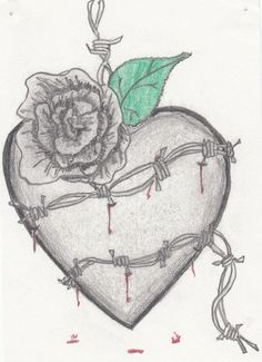 Barbed Wire Tattoos for Girls   barbed wire heart tattoo ...