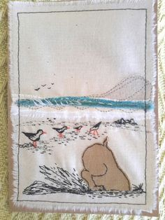 This, that and everything inbetween Free Motion Embroidery, Machine Embroidery Applique, Applique Patterns, Free Motion Quilting, Embroidery Art, Fabric Postcards, Fabric Cards, Paper Cards, Thread Art