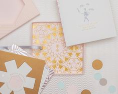 edyta and jared kaleidograph wedding invite by cheree berry paper