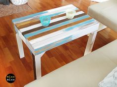 Coffee Tables – Beautiful table Paradieso BLUE – a unique product by mixxmixx on DaWanda
