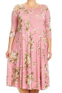 8f5ffada Cherry Blossom Dress-Curvy size! XL-3XL Cherry Blossom Dress, Curvy Dress