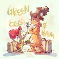Dr Seuss Illustration, Green Eggs And Ham, The Lorax, Dr Suess, Netflix Originals, Art Memes, Peppa Pig, Experiment, Character Art