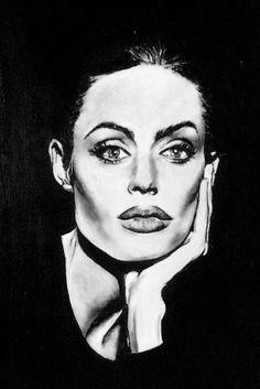 Acrylic on canvas • Angelina Jolie • Katharina Thürmel
