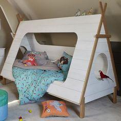 Lit 90x200cm en pin massif en forme de tipi - Tipi - Lits 1 place-Lits-Chambre-Par pièce - Décoration intérieur - Alinea