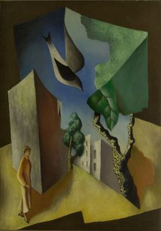 Léopold Survage (French, born Russia, 1879-1968), Abstract Cityscape, 1924. Oil on canvas, 65 x 45.7 cm.