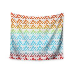 """Frederic Levy-Hadida """"Antilops Pattern"""" Multicolor Chevron Wall Tapestry"""