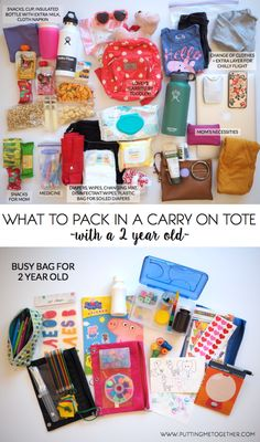 Packing Tips: My Carry On With a Toddler - Putting Me Together