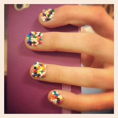 Yummy sprinkles nails like a frosted cake