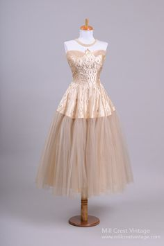 vintage dress - would like in a less pinkish champagne color