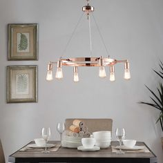 With a unique and attractive design, the six light chandelier from Rae is an interesting twist on more traditional lighting fixtures.