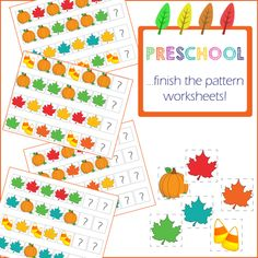 Preschool Activities: Finish the pattern from onebeautifulhomeblog.com
